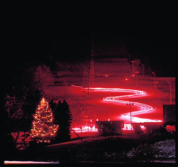 Torchlight parade at Holiday Valley