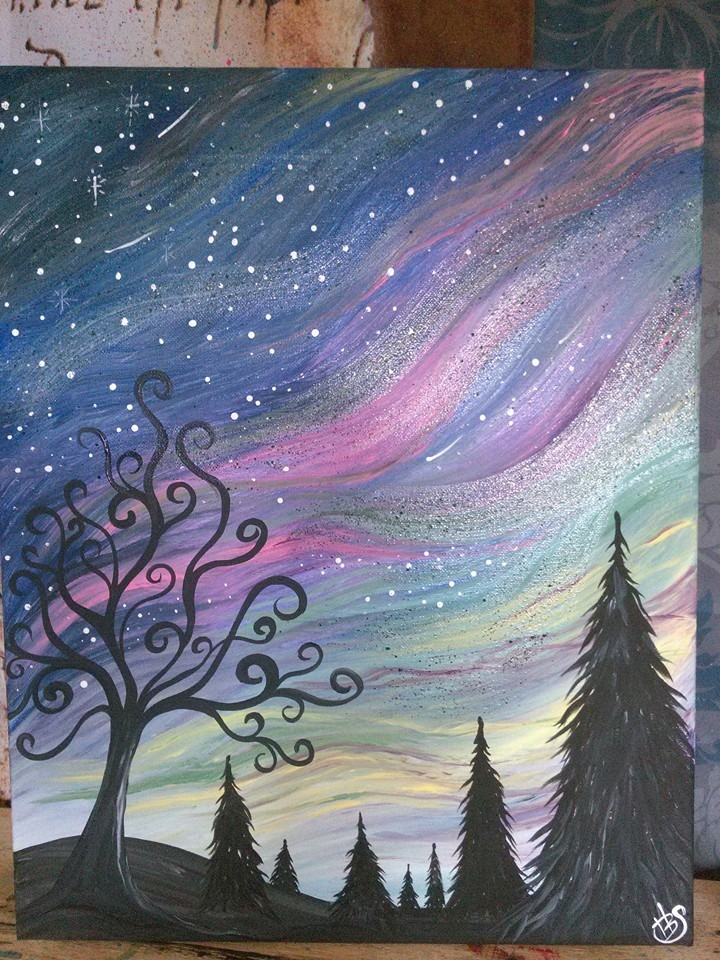 Painting With Shelby  Northern Lights