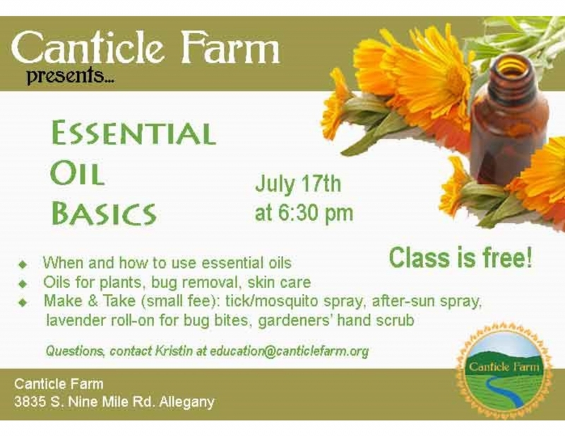Essential Oils Basics at Canticle Farm