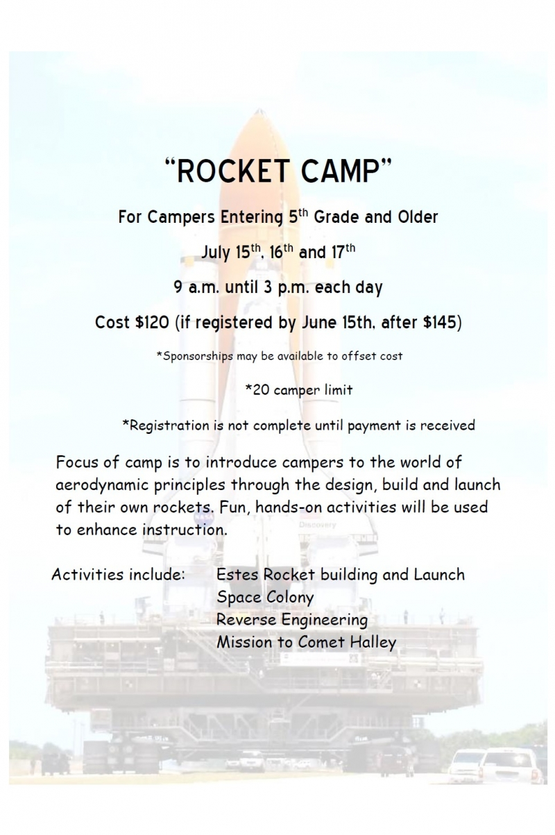 Rocket Camp at the Challenger Learning Center 2019