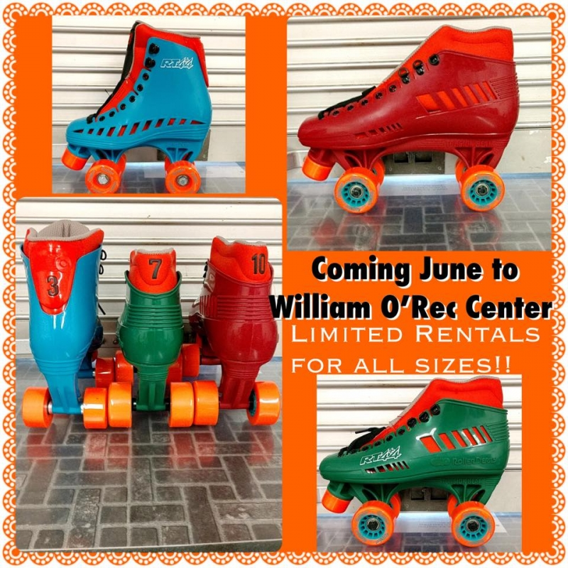 Rollerskating rentals at William O Smith Rec Center