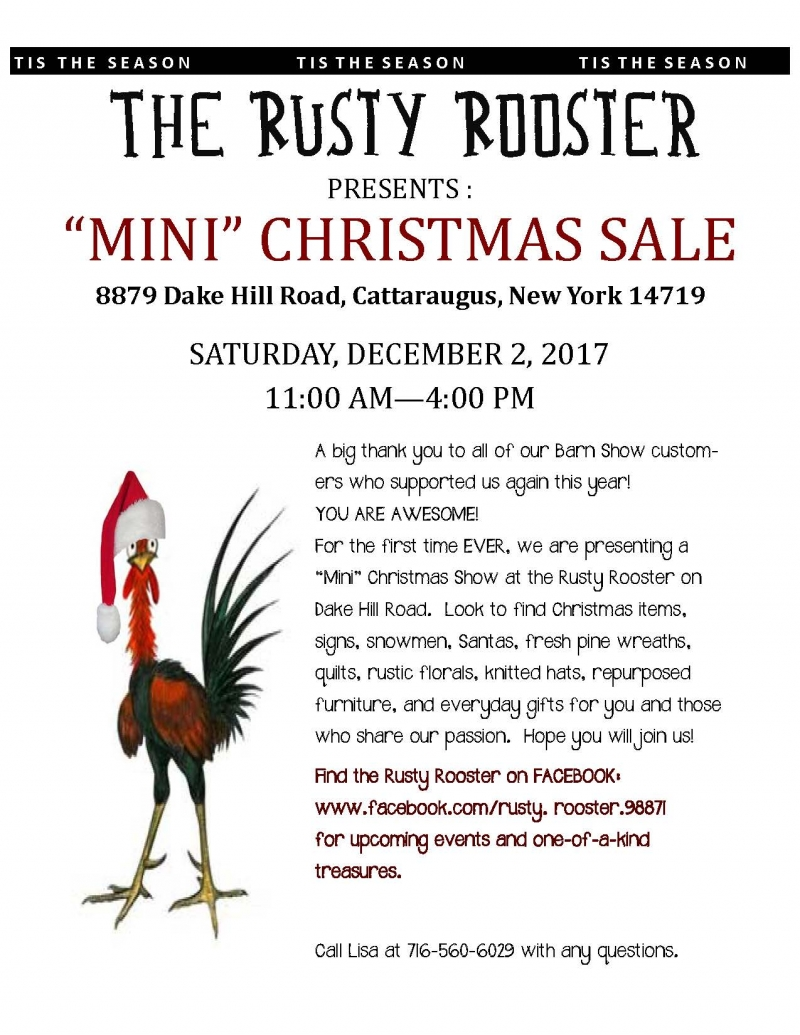 Rusty Rooster Mini Christmas Sale 2017