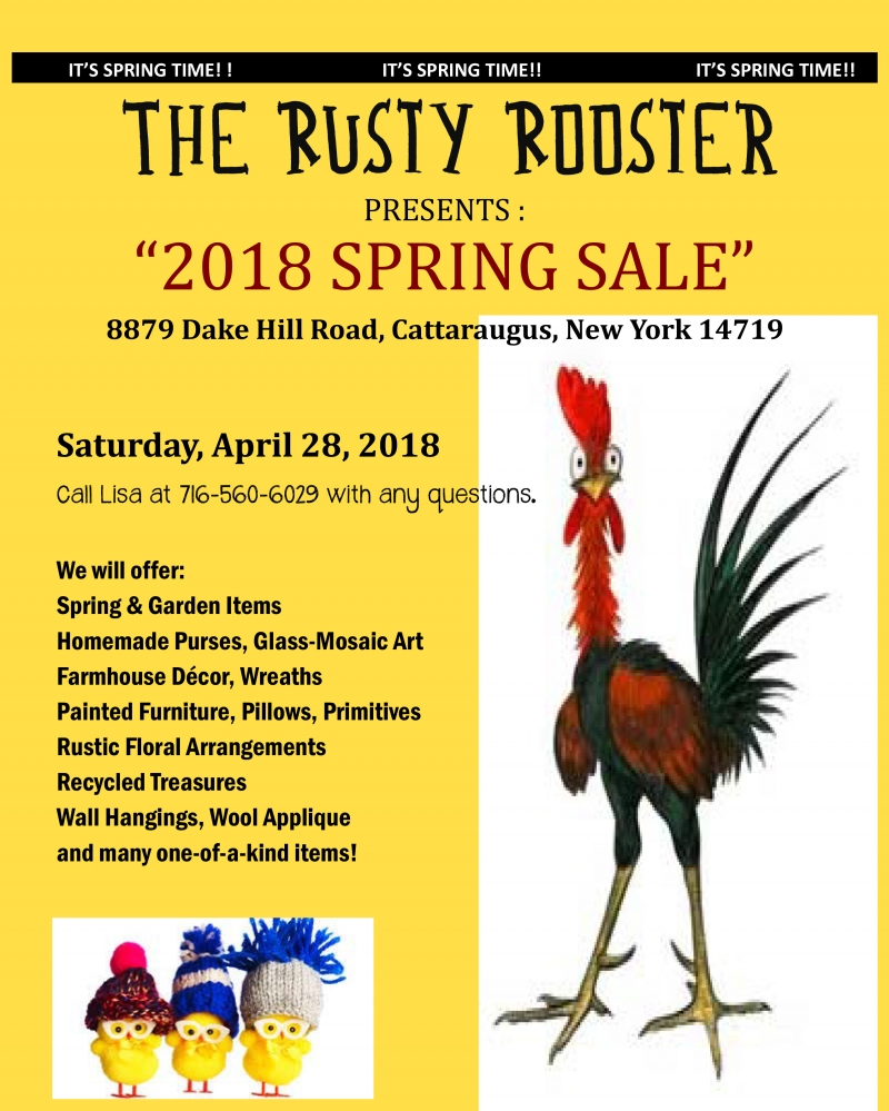 Rusty Rooster Cattaraugus Spring Sale