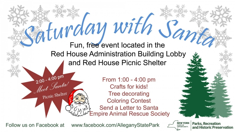 Saturday with Santa at Allegany State Park