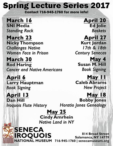 Spring Lecture Series 2017 at the Seneca Museum