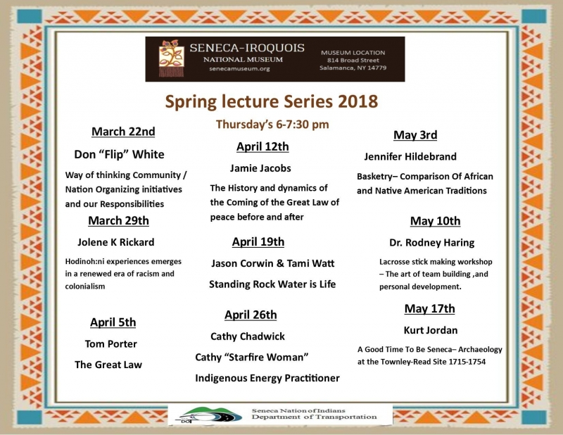 2018 Spring lecture series at the Seneca-Iroquois National Museum