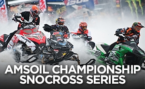 poster for the 2014 AMSOIL Championship Snocross Series, Seneca Allegany Casino