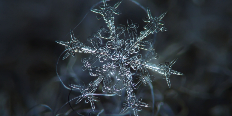 Snowflake up close by Huffington Post