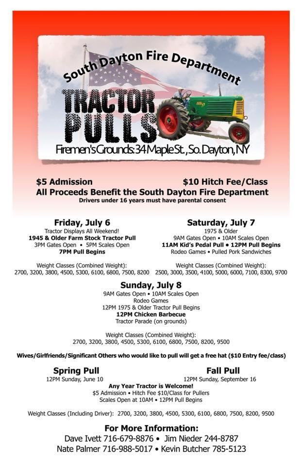 2018 South Dayton Summer Tractor Pull