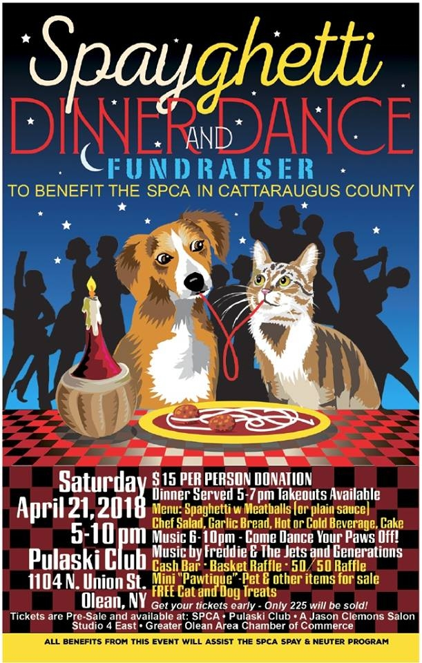 Spayghetti Dinner for SPCA in Cattaraugus County