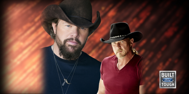 Toby Keith and Trace Adkins at the Seneca Allegany Casino