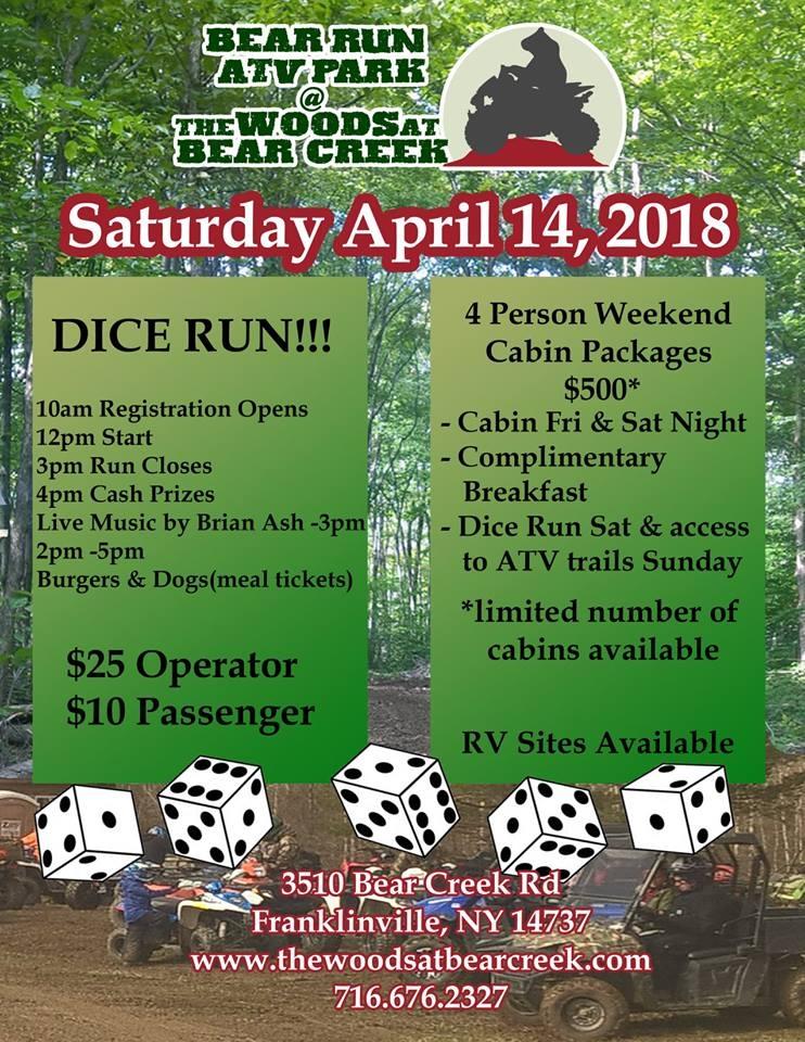 Woods at Bear Creek Dice Run April