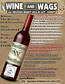 wine and wags poster