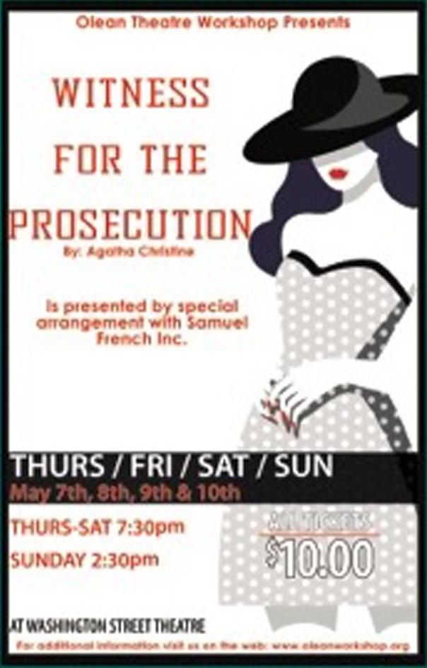 Poster for OTW's Witness for the Prosecution