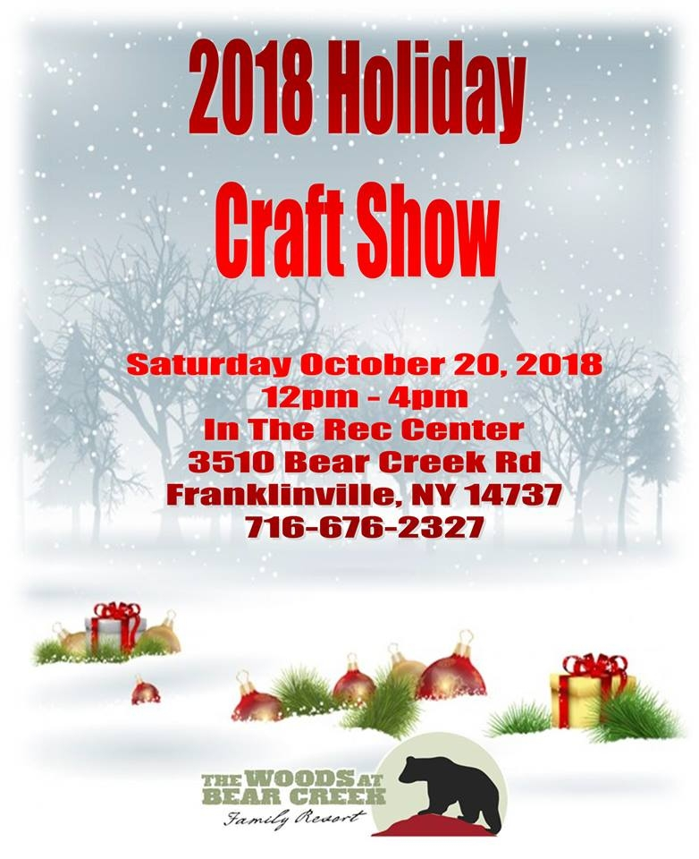 Christmas Craft Show Flyer.2018 Holiday Craft Show At The Woods At Bear Creek