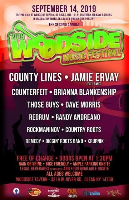 The Woodside Music Festival 2019 Poster