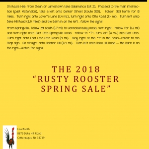 Rusty Rooster Cattaraugus Spring Sale 2