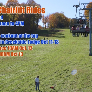 2013 Fall Festival Chairlift Rides at Holiday Valley Resort, Mardi Gras Quad