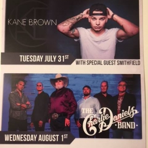 Kane Brown and Charlie Daniels Band at Cattaraugus County Fair