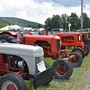 Old Tractors on display at the 2019 Catt. County Fair