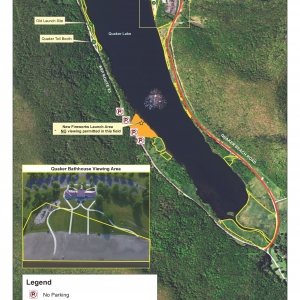 2017 Independence Day Fireworks Map at Allegany State Park