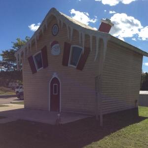 Outside Allegany's Santa House