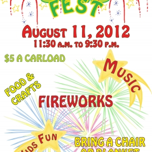 Poster for the 2012 OnoFest on August 11, 2012 only $5 per carload