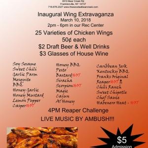 Inaugural Wing Extravaganza at The Woods At Bear Creek