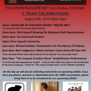 Cultural Center Anniversary Informational Poster