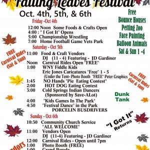 2019 Falling Leaves Festival Poster