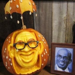 Eric Jones 3D Pumpkin Carving of Al Roker