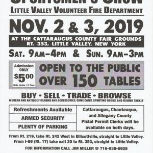 Flyer for Fall Sportsmen's Show in Little Valley