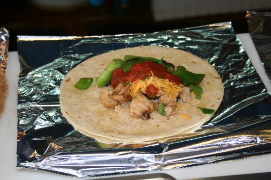 Delicious locally produced burrito!