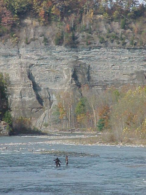 Autumn Fishing in Cattaraugus Creek, Gowanda, New York