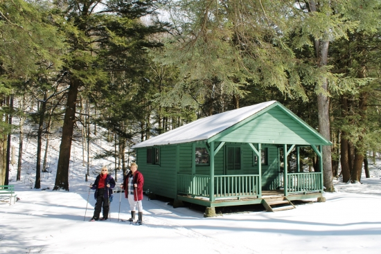 snowshoeing at Allegany State Park