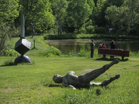 lake at Griffis Sculpture Park