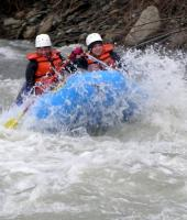 People whitewater rafting in the Cattaraugus Creek. Credit: Rick Miller