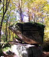 Balancing rock seen here during the fall season