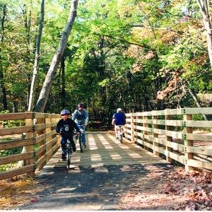 biking on the Allegheny River Trail