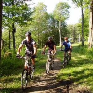 Mountain Bikers on the trails around Ellicottville