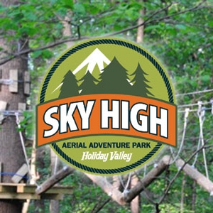 Photo of one of the challenges at Sky High Adventure Park