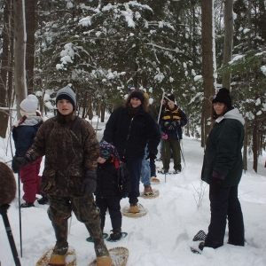 Snowshoeing at Pfeiffer Nature Center