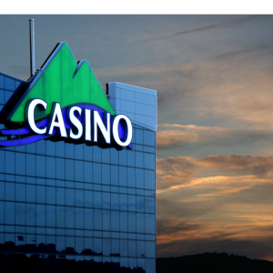 Casino sign in the sky