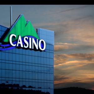 Casino sign in the sky