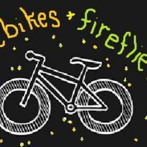 Fatbikes and Fireflies clipart