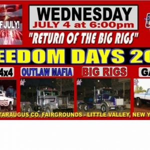 Freedom Daze Big Rig Truck Pull at the Cattaraugus County Fairgrounds  2018