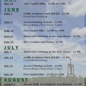 Griffis Sculpture Park Saturday activities schedule