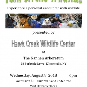 Nannen Arboretum presents Hawk Creek Wildlife Center