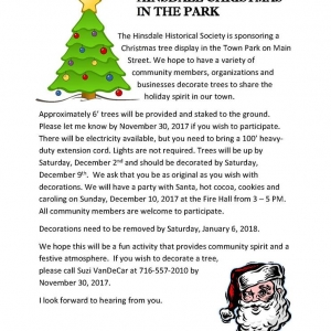 Hinsdale Christmas in the Park 2017