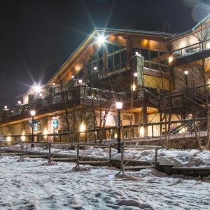 Holiday Valley Lodge at night